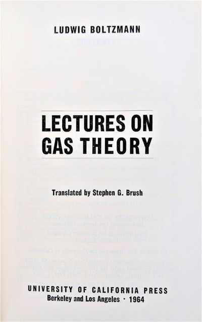 Image for Lectures on Gas Theory, Translated by Stephen G. Brush.