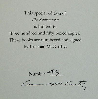 The Stonemason, McCarthy, Cormac