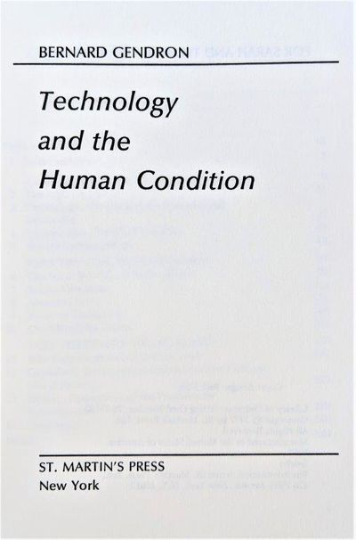 Image for Technology and the Human Condition.