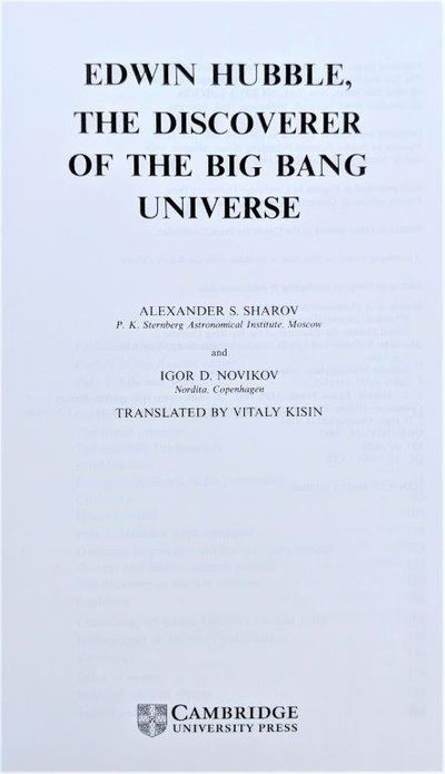 Image for Edwin Hubble the discoverer of the Big Bang universe. Translated by Vitaly Kisin.