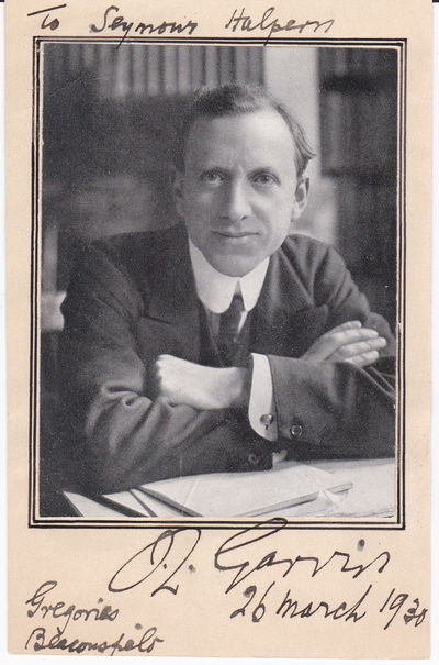 PORTRAIT OF JAMES LOUIS GARVIN, EDITOR OF THE BRITISH NEWSPAPER THE OBSERVER, INSCRIBED AND SIGNED BY HIM., Garvin, James Louis. (1868-1947). British journalist, editor and author. Editor of The Observer from 1908 to 1942.