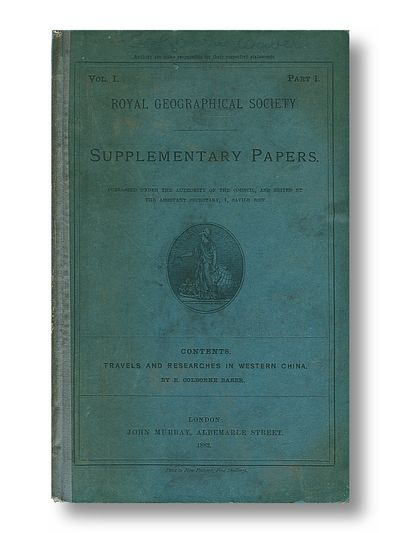 Royal Geographic Society Supplementary Papers Vol. 1 , Part 1, Babar, R. Colborne