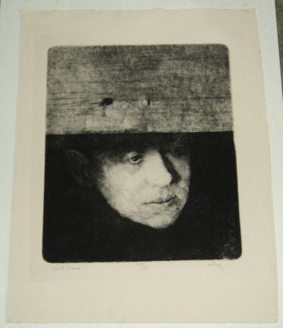 HART CRANE: A RICH BOLD ETCHING OF THE POET HART CRANE, SIGNED BY THE ARTIST CHARLES WELLS, (Crane, Hart). Wells, Charles