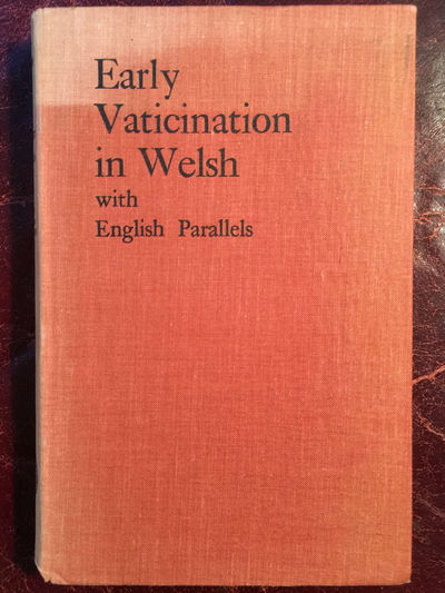 Early Vaticination In Welsh With English Parallels Margaret Enid Griffiths, Margaret Enid Griffiths Edited By T. Gwynn Jones