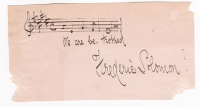 AUTOGRAPH MUSICAL QUOTATION SIGNED by the American composer FREDERIC SOLOMON.