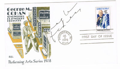 First Day Cover SIGNED by Austrian actor KLAUS MARIA BRANDAUER., Brandauer, Klaus Maria (b. 1944). Austrian actor.