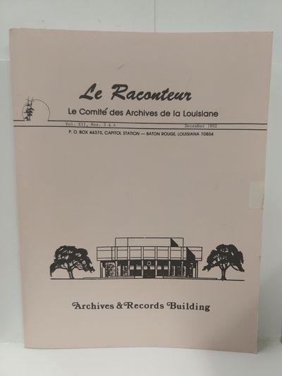 Image for Le Raconteur Vol XII No 3-4 December 1992