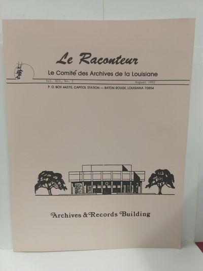Image for Le Raconteur Vol XII No 2 August 1992