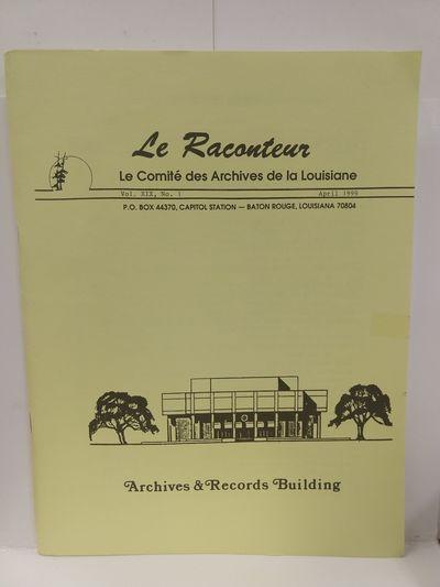 Image for Le Raconteur Vol XIX No 1 April 1999