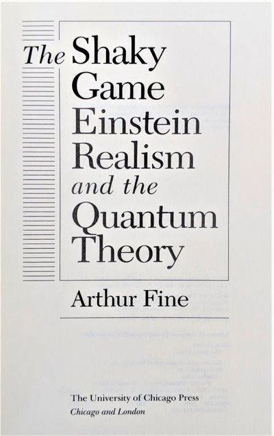 Image for The Shaky Game: Einstein Realism and the Quantum Theory.