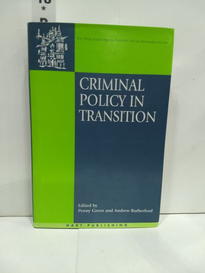 Image for Criminal Policy In Transition  (onati International Series In Law And Society)