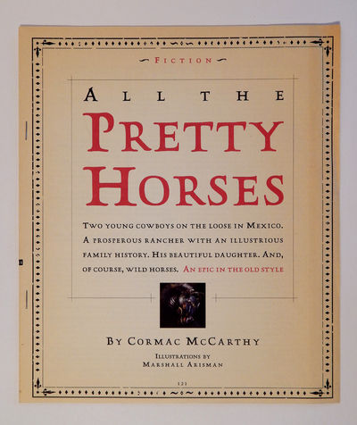 All the Pretty Horses - Galley and Excerpt, McCarthy, Cormac