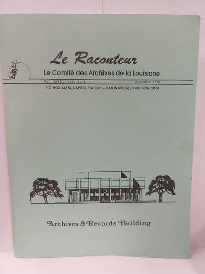 Image for Le Raconteur, Vol XVIII, NO 3-4 December 1998