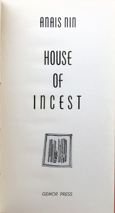 Image for House of Incest.