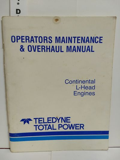 Image for Continental L-Head Engines, Operators Maintenance & Overhead Manual