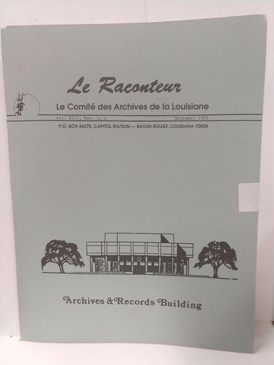 Image for Le Raconteur Vol XIII No 3-4 December 1993