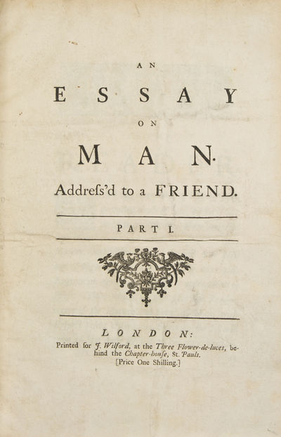 an essay on man analysis epistle 2