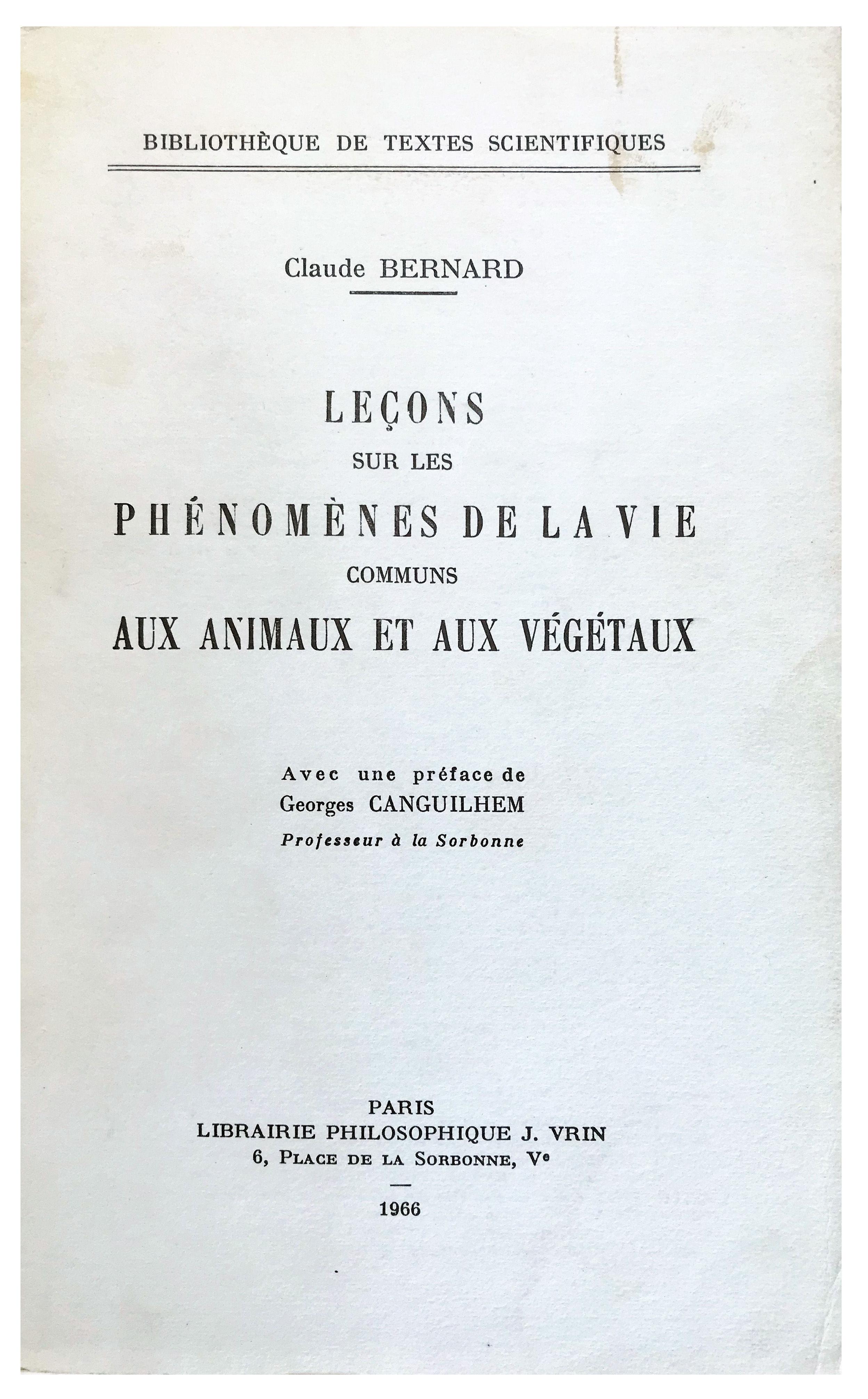 Image for Lecons sur les Phenomenes de la vie Communs aux Animaux et aux Vegetaux.