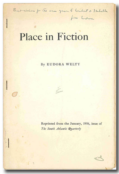 "eudora welty place in fiction essay Unformatted text preview: discussion questions part two (notes) eudora welty- in her essay ""place in fiction,"" welty spoke of her work as filled with the spirit."