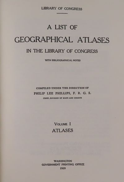 Image for Geographical Atlases in the Library of Congress