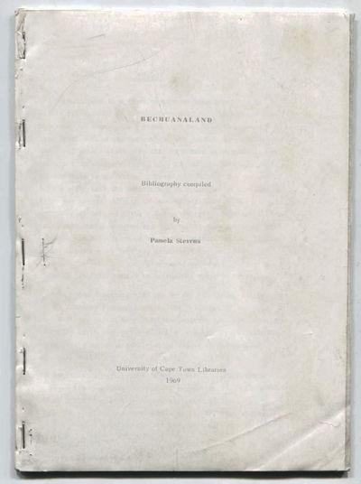 Bibliography of Bechuanaland, Stevens, Pamela