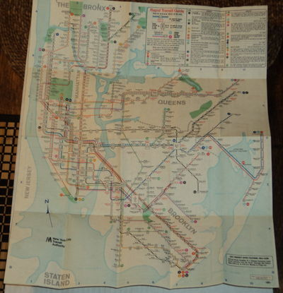 RAPID TRANSIT GUIDE. [New York City transit map and station guide]., (New York City Transit Authority).