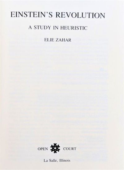 Image for Einstein's Revolution; a study in Heuristic.