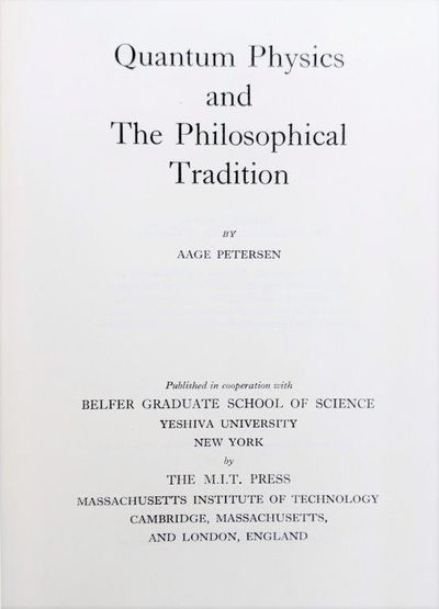 Image for Quantum Physics and the Philosophical Tradition.
