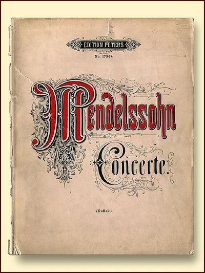 Felix mendelssohn-Bartholdy's Sammtliche Werke Concerte Fur Pianoforte Solo, Felix Mendelssohn-Bartholdy