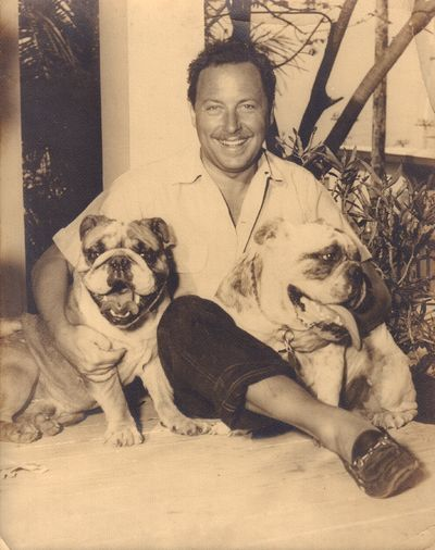 Image for [Tennesse Williams with two Bulldogs]