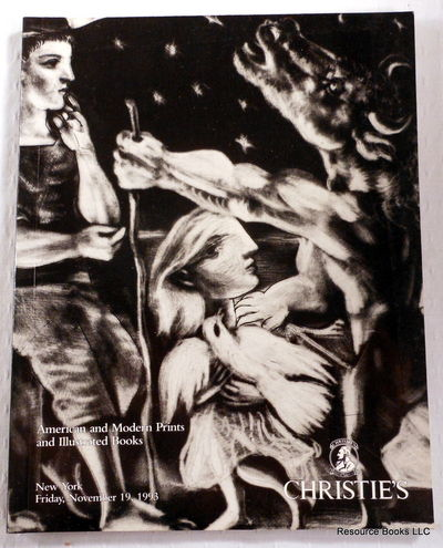 American and Modern Prints and Illustrated  Books.  Christie's New York: November 19, 1993.  Sale 7780, Chrisitie's [Auction Catalogue]