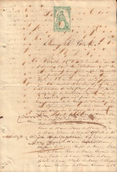 Image for Receipt for the Purchase of 69 Black Slaves in Santiago de Cuba