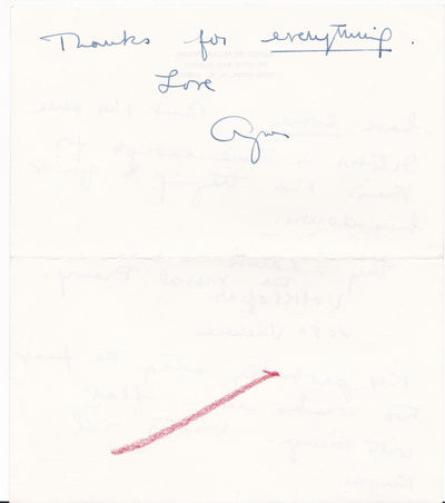 THREE-PAGE AUTOGRAPH LETTER TO PRODUCER JEAN DALRYMPLE SIGNED BY AMERICAN CHOREOGRAPHER AGNES DE MILLE., De Mille, Agnes. (c. 1905-1993). Innovative American choreographer.