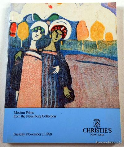 Christie's: Modern Prints from the Neuerburg Collection.  New York: November 1, 1988.  Sale 6706, Christie's