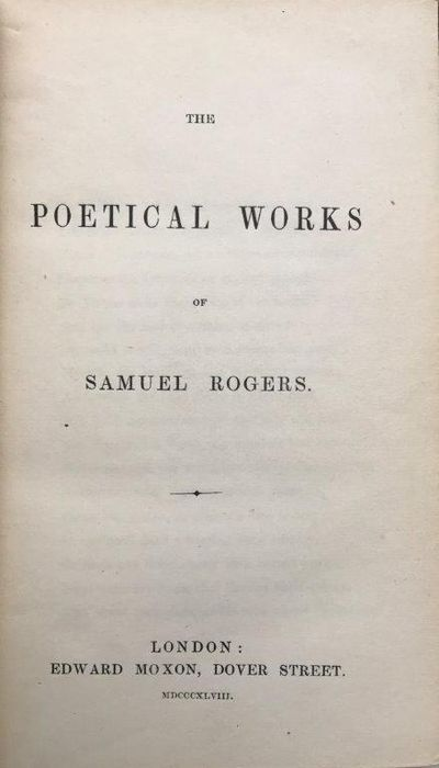 Image for The Poetical Works.