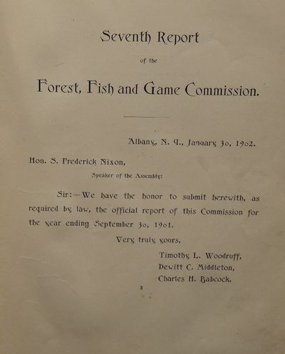 Image for Seventh Report of the Forest, Fish and Game Commission State of New York  1901