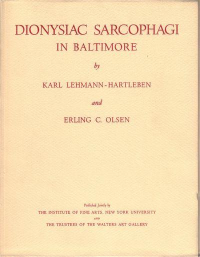 Image for Dionysiac Sarcophagi in Baltimore