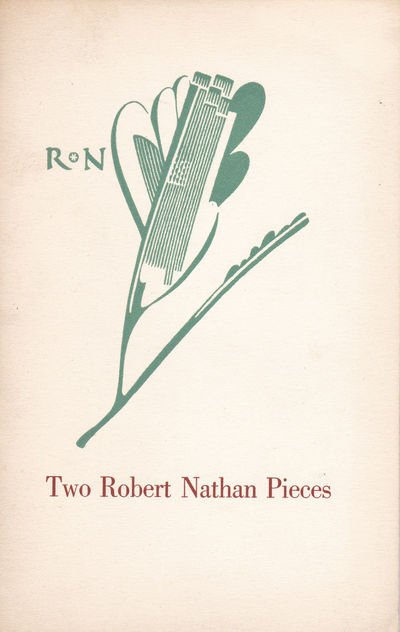 TWO ROBERT NATHAN PIECES: A Talk with Robert Nathan / Advice to My Son. Typophile Monograph 28, (Dwiggins, W. A). Nathan, Robert