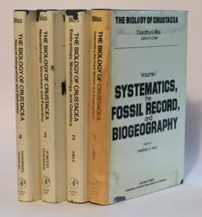 The Biology of Crustacea, Volumes 1-4, Bliss, Dorothy (series editor), Lawrence Abele, Harold Atwood, and David Sandeman (eds)