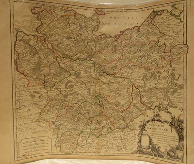 Cercle de Basse Saxe ou font distingues les Etats de Brunswich, les Duches  de Holstien, de Mecklenbourg et des Eveches d'Hildesheim, et d'Halberstadt