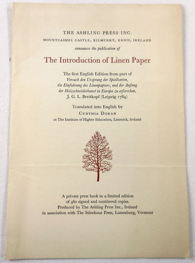 Image for Prospectus for: The Introduction of Linen Paper