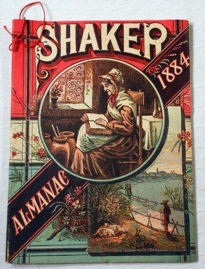 Shaker Family Almanac 1884, American Almanacs.  Shakers. Benjamin Gates