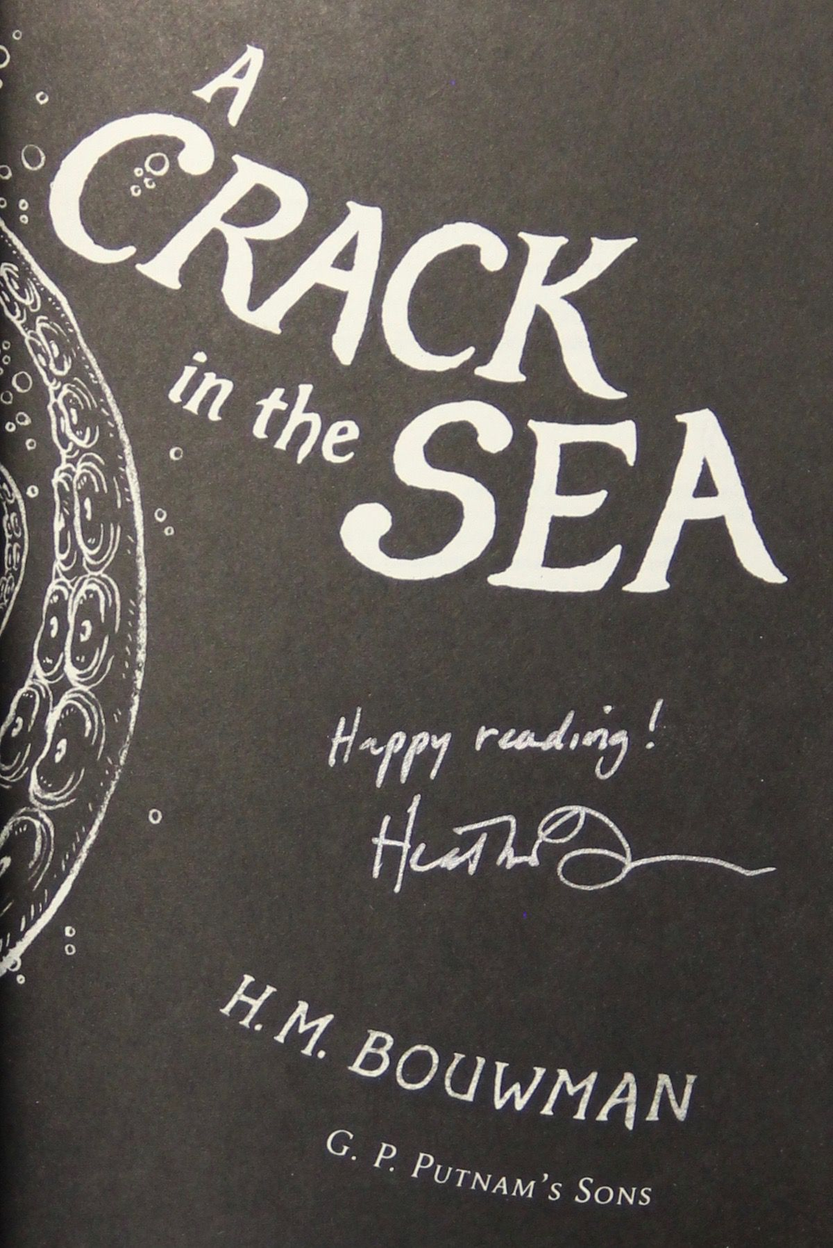 Image for A Crack in the Sea (Signed)