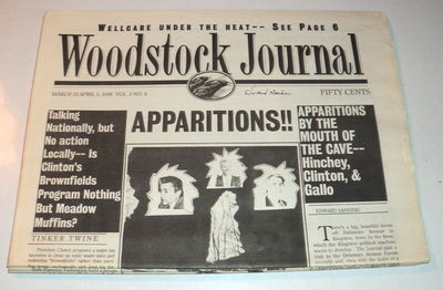 WOODSTOCK JOURNAL. VOL.2 NO.4 THROUGH VOL.2, NO.7. (February 23-April 19, 1996). (4 issues), (Ginsberg, Allen). Sanders, Ed; editor