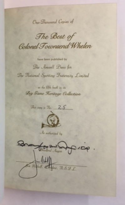 The Best of Colonel Townsend Whelen, Angier, Bradford (ed.)