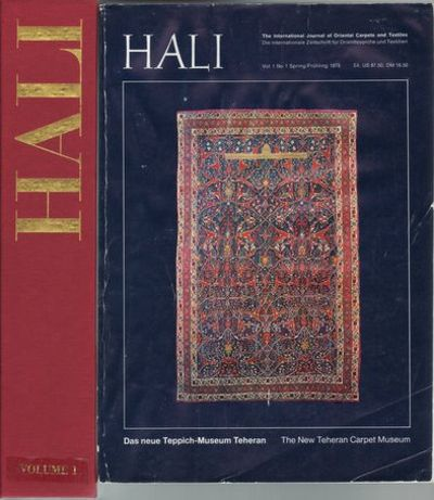 Hali - The International Magazine of Antique Carpet and Textile Art.  (Issues 1-102).   Issues 1 - 72 in publisher's original slipcases.
