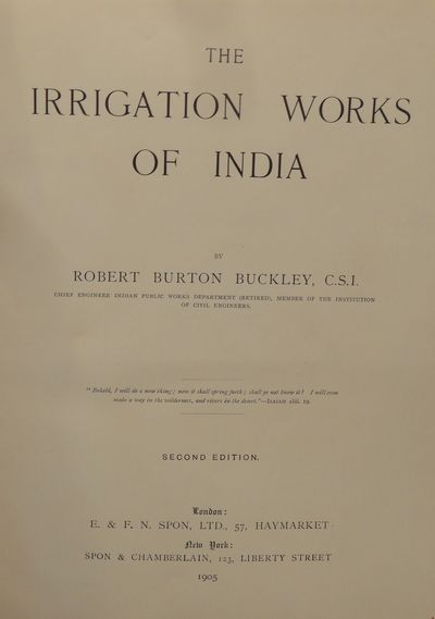 Image for The Irrigation Works of India