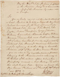 [MANUSCRIPT_LETTER_SIGNED_BY_JOHN_PAUL_JONES_ORDERING_A_MEMBER_OF_THE_MARINES_TO_ATTEND_A_COURTMARTIAL_ON_BOARD_HIS_SHIP_THE_BONHOMME_RICHARD]