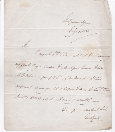 AUTOGRAPH LETTER SIGNED TWICE BY THE NATURALIST JOHN RUSSELL, 6TH DUKE OF BEDFORD., Russell, John, 6th Duke of Bedford. (1766-1839). Politician and naturalist.