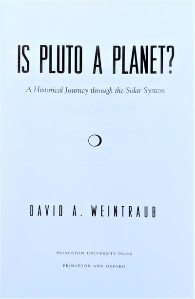 Image for Is Pluto a Planet? A historical journey through the solar system.